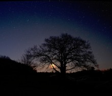Dark sky at twilight